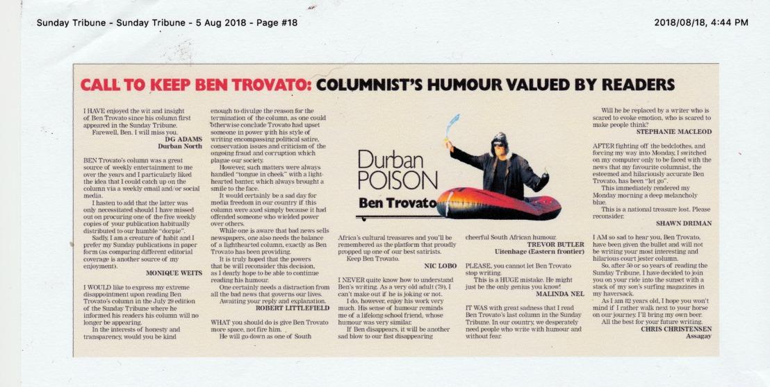 Durban Poison letters 3